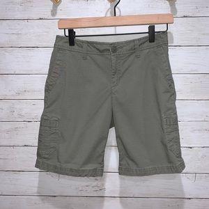 Eddie Bauer Green Altered Cargo Shorts